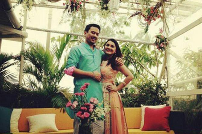 Minissha Lamba With EX Husband Ryan Thama