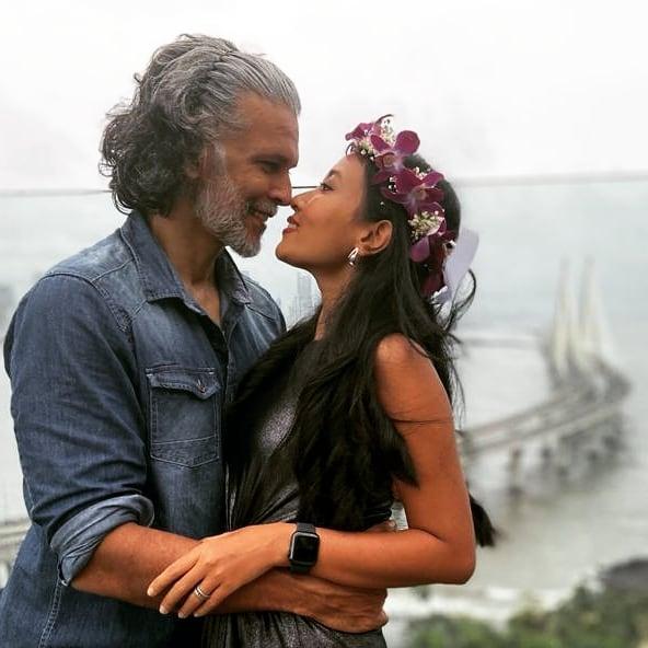 Milind Soman and Ankita Konwar wedding