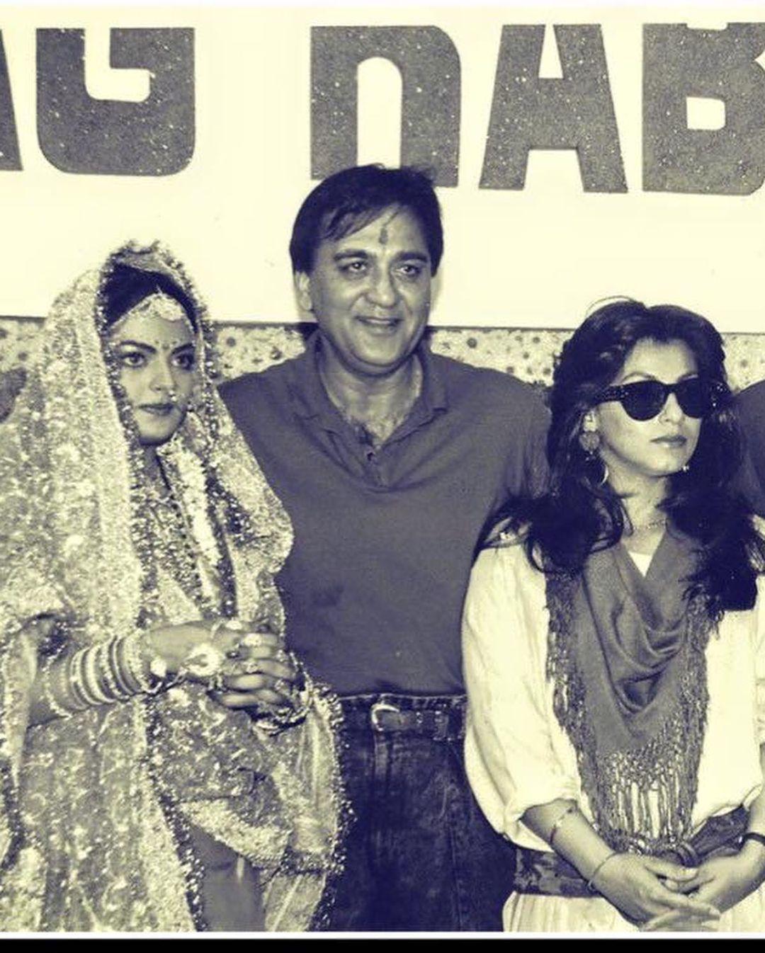 Sheeba With Sunil Dutt And Dimple Kapadia On her Wedding