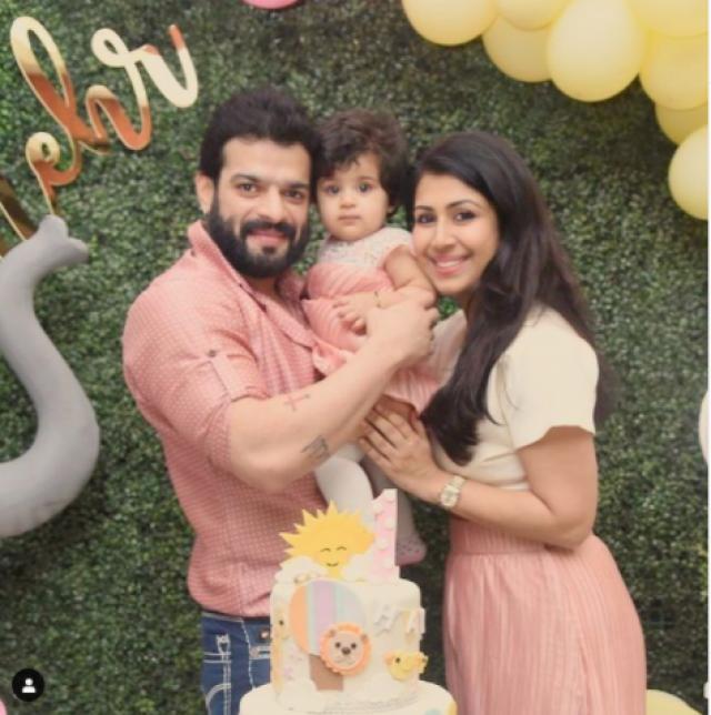 karan patel daughter first birthday
