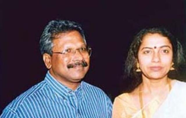 Mani Ratnam with his wife Suhasini