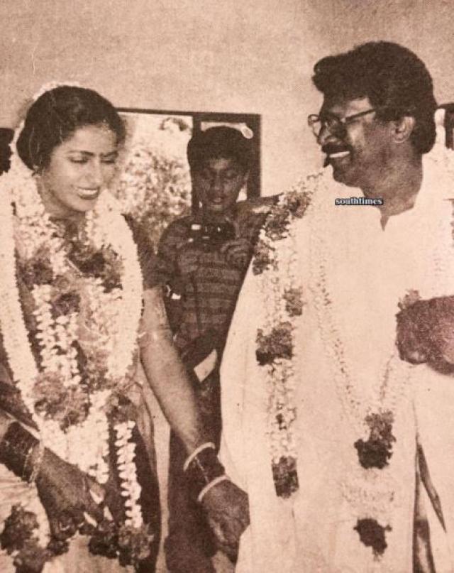 Mani Ratnam and Suhisini wedding photo