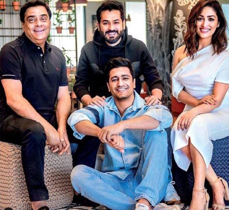 Yami Gautam And Aditya Dhar With URI Team