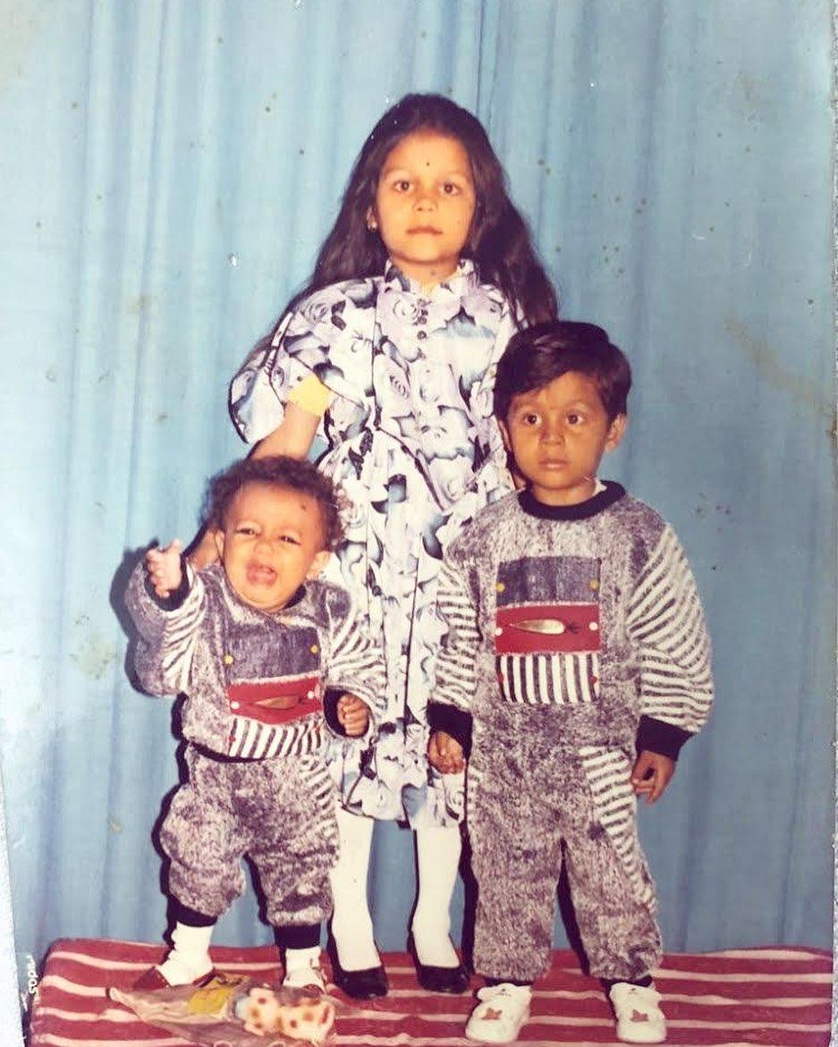 Neha Kakkar And Tony Kakkar Childhood Photo