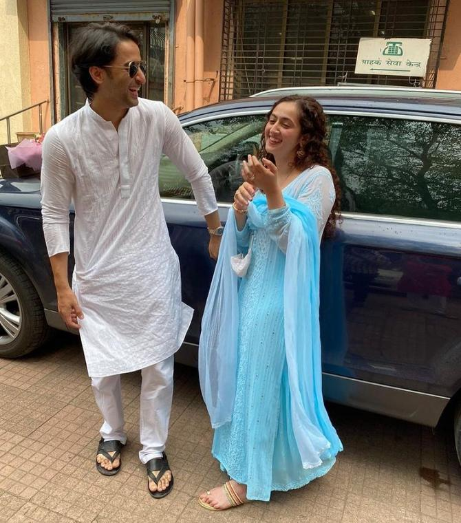 Shaheer Sheikh With Wife Ruchika Kapoor