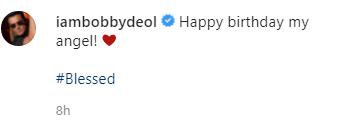 bobby deol son birthday photo