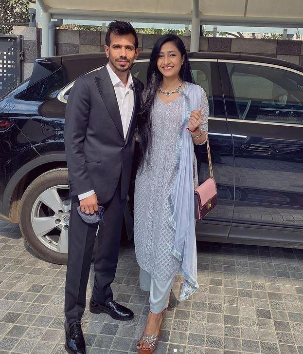 Yuzvendra Chahal with Wife Dhanashree