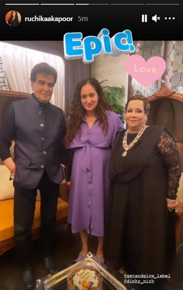 Ruchikaa Kapoor With Jitendra And Shobha Kapoor