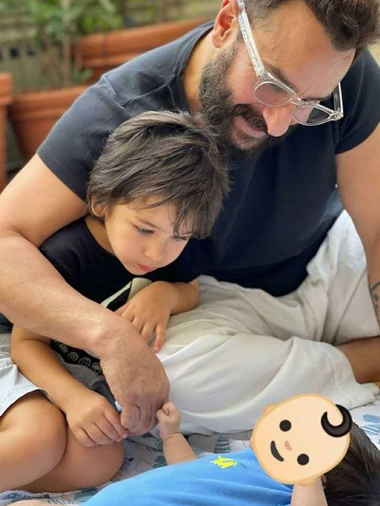 Saif Ali Khan With His Sons