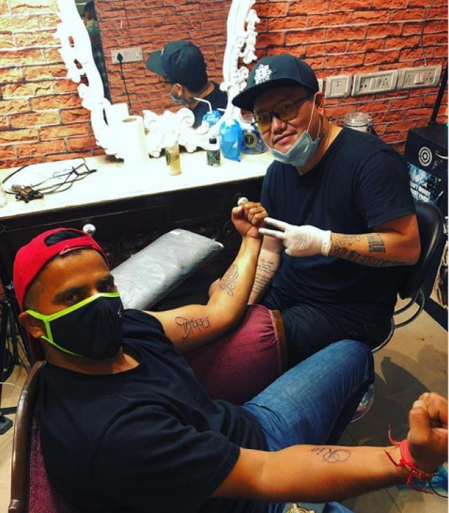 suresh raina tattoo