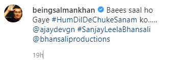 salman khan post