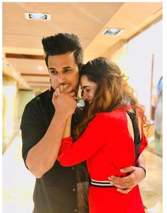 Yuvika Chaudhary with prince Photos