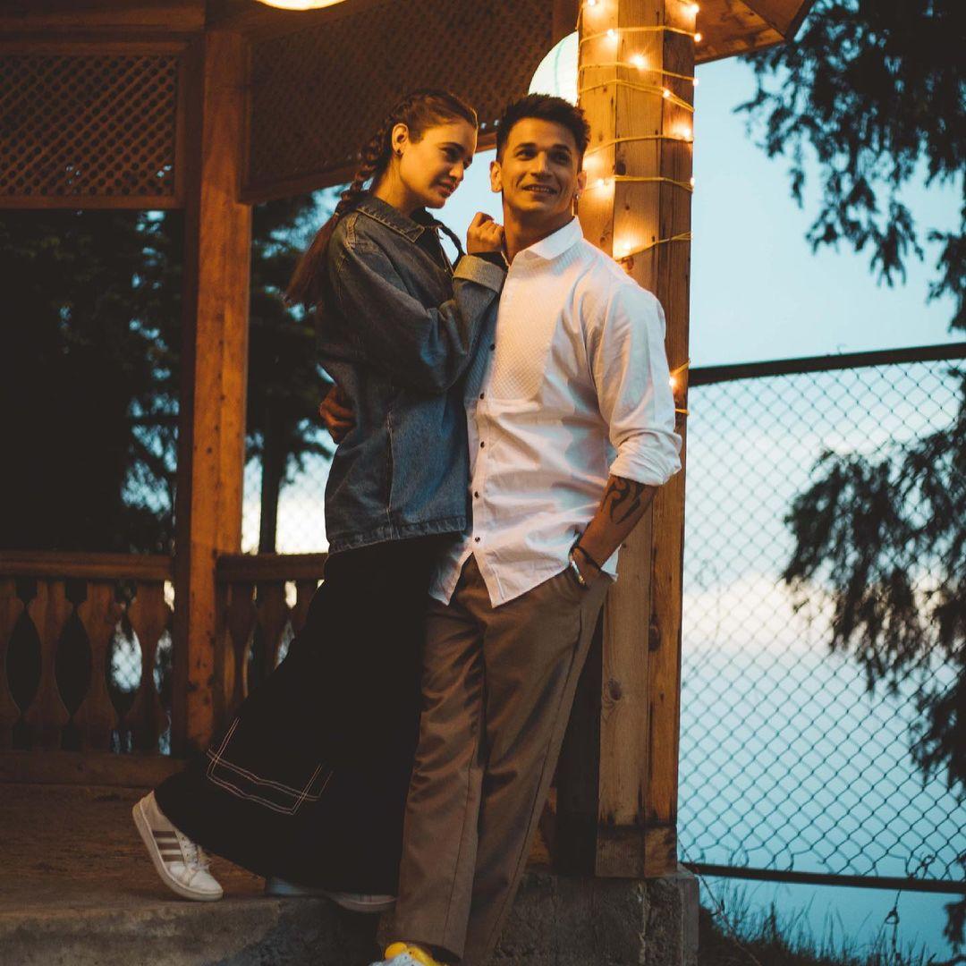 Yuvika Chaudhary and prince romatic photos