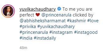 yuvika chaudhary post