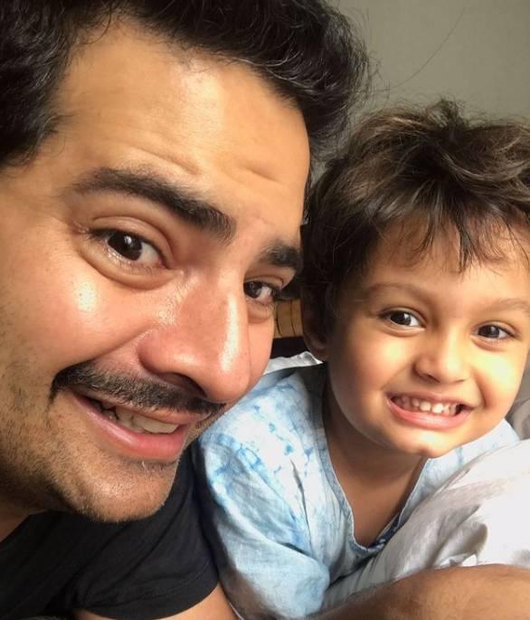 Karan Mehra With Son