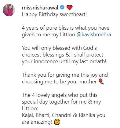 Nisha Rawal Post