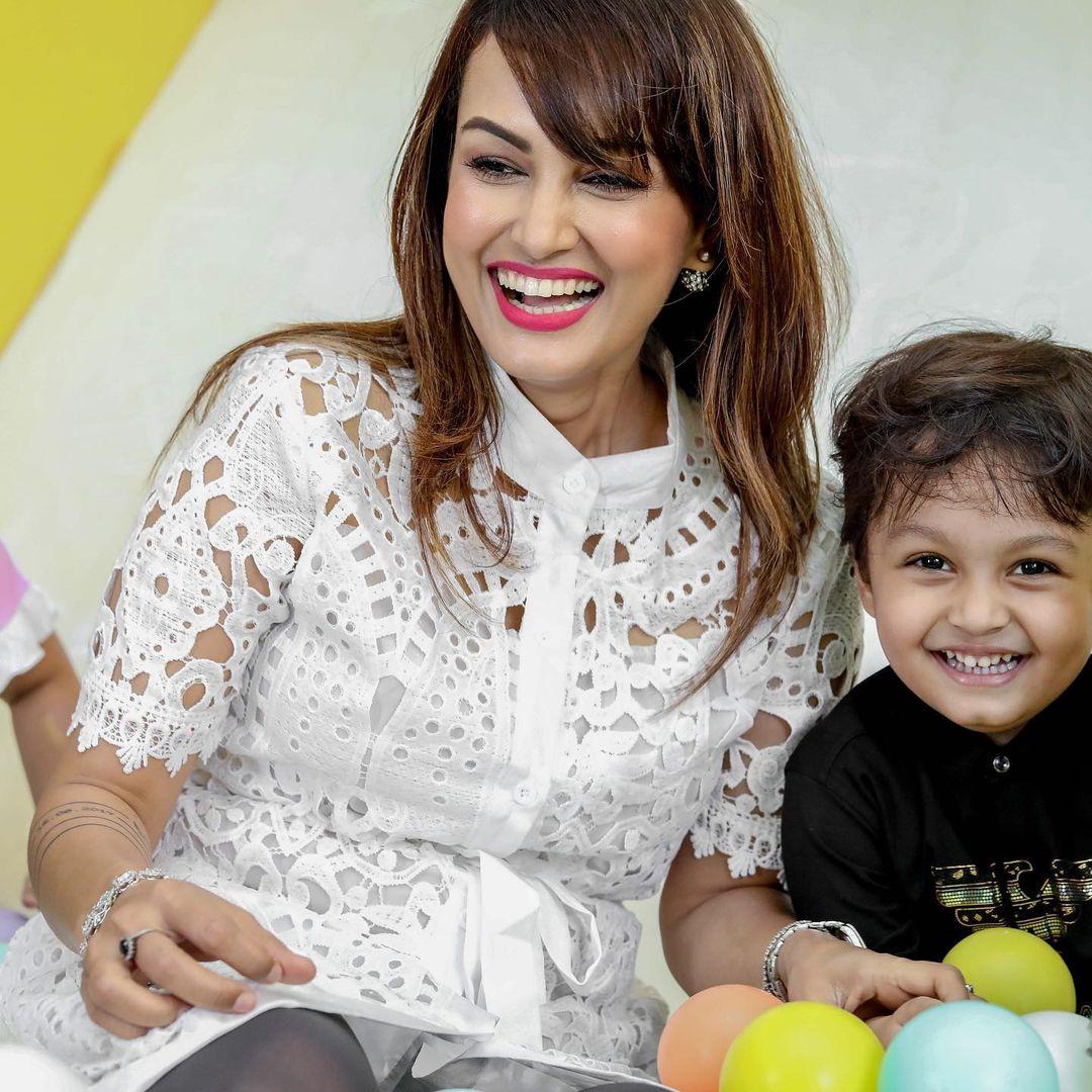 Nisha Rawal Son Kavish Mehra 4th Birthday