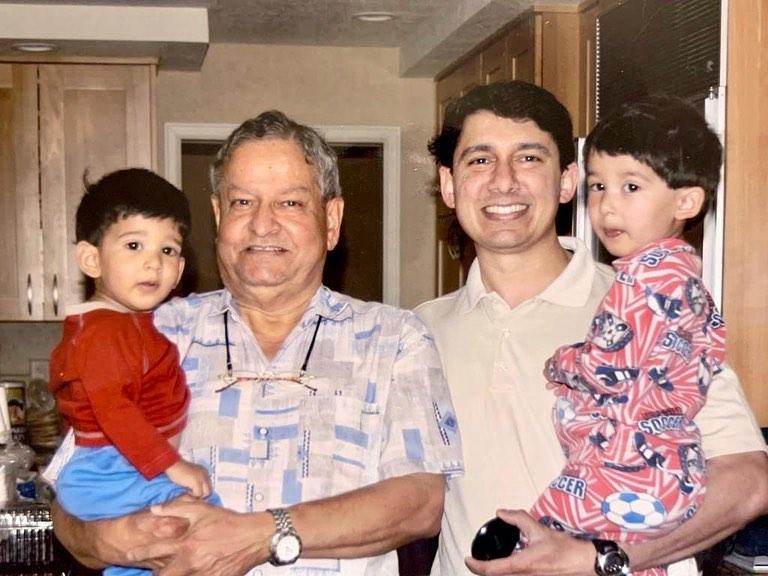 dr sriram nene with father and children