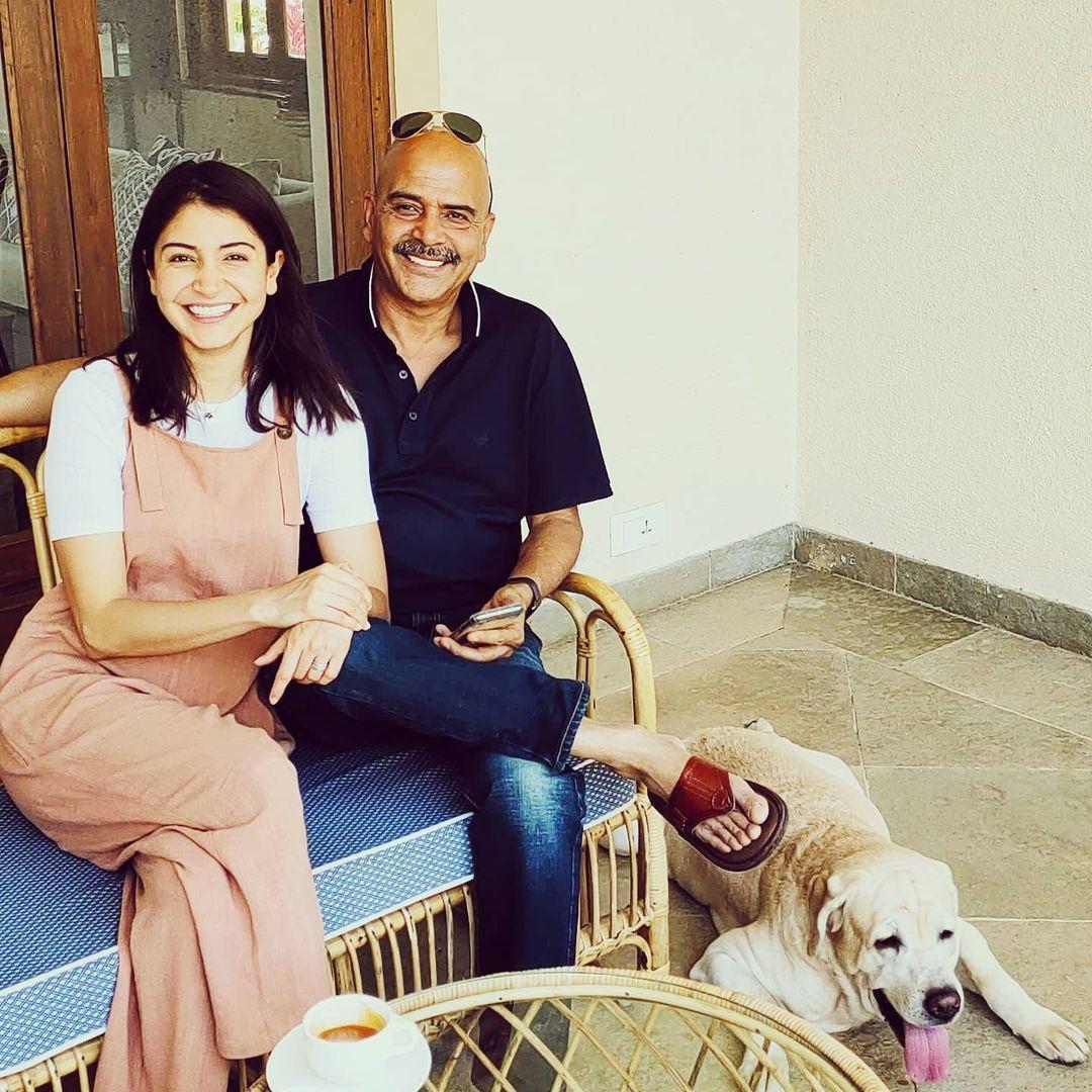 Anushka Sharma With Father