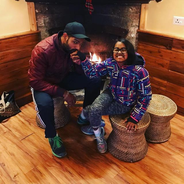 shikhar dhawan with daughter rena