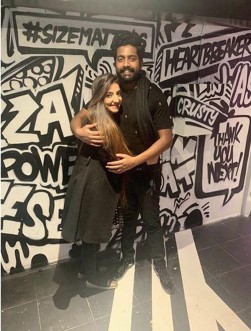 Lovey Sasan With Her Husband Kaushik