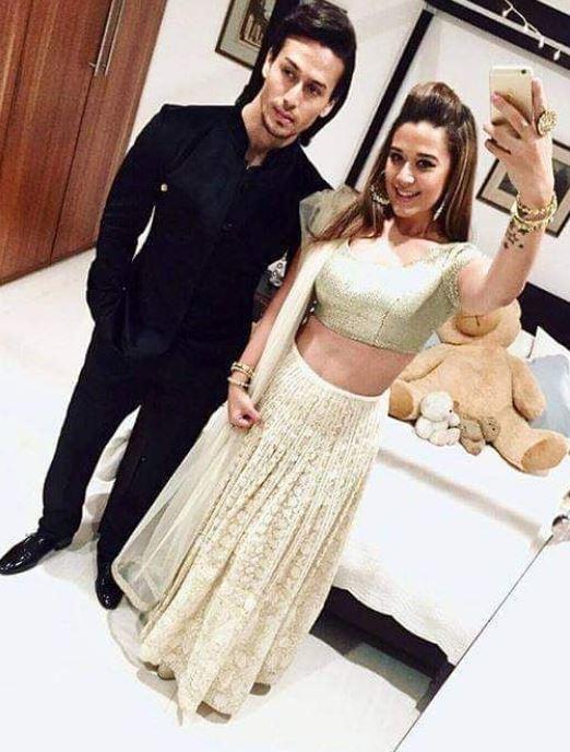 Tiger Shroff With His Sister Krishna Shroff