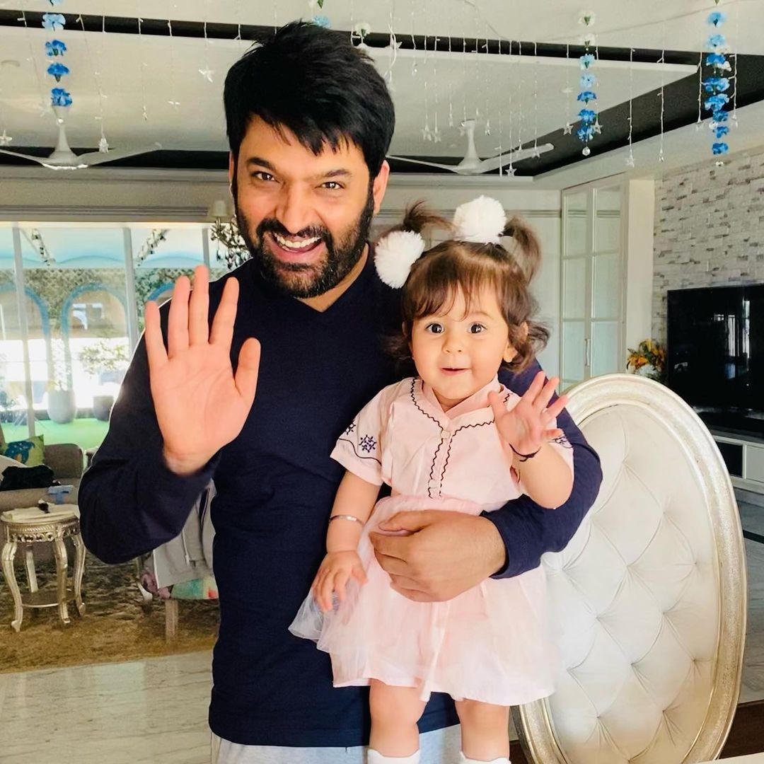 Kapil Sharma With Daughter