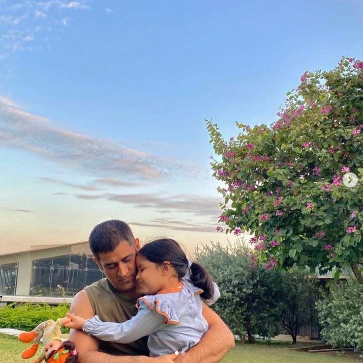 MS Dhoni With Ziva