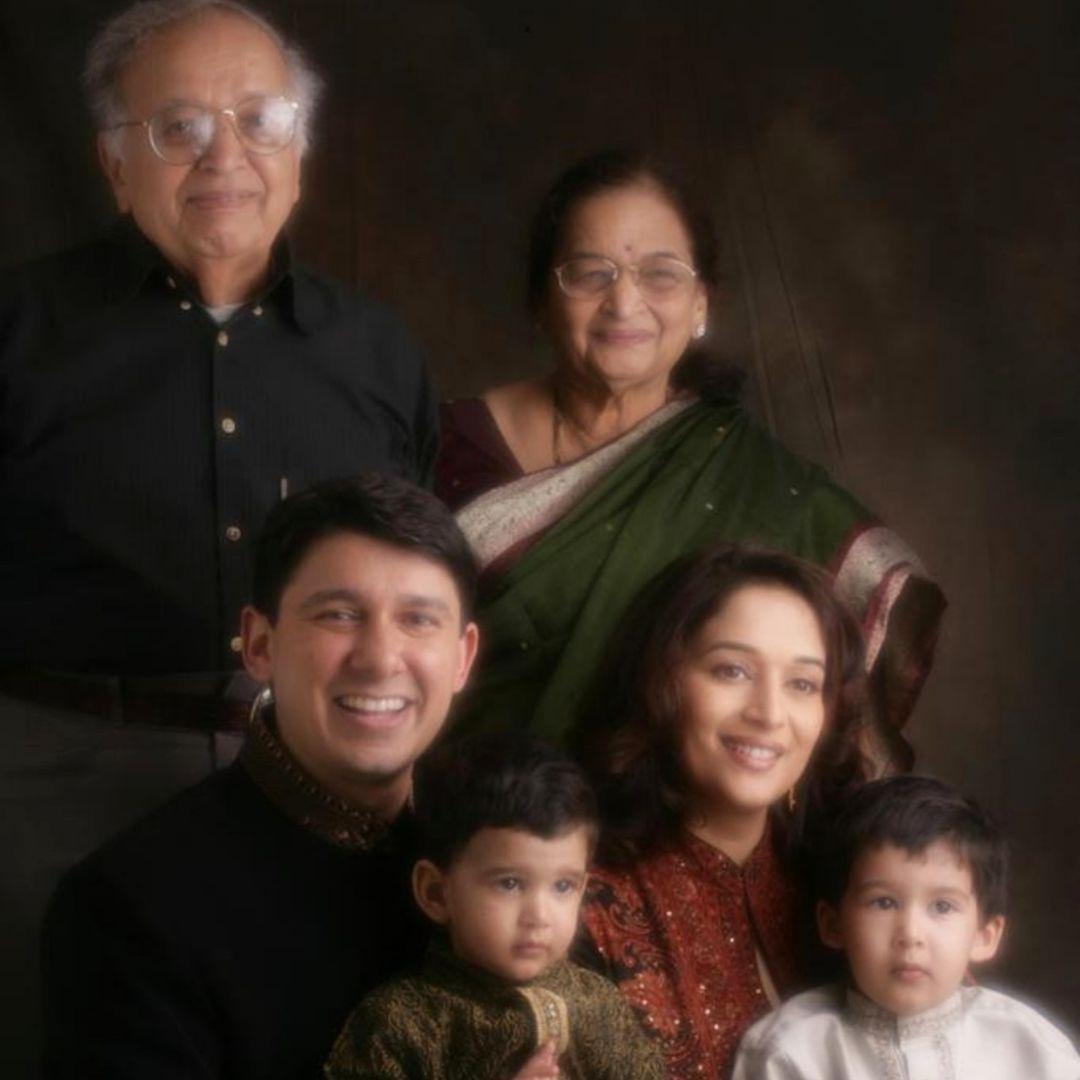 Madhuri Dixit Family Photo
