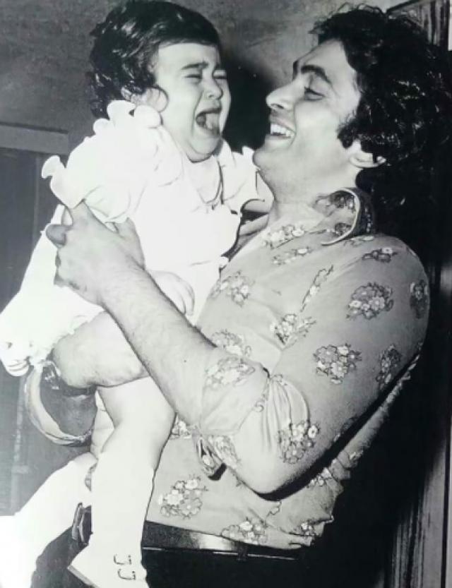 Karisma Kapoor With Uncle Rishi Kapoor