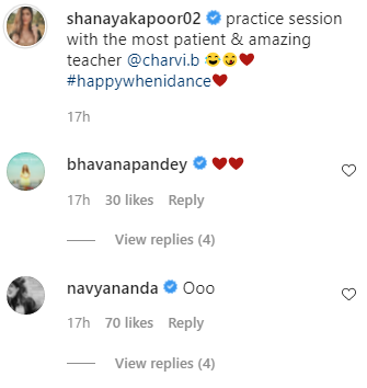 shanaya kapoor dance video