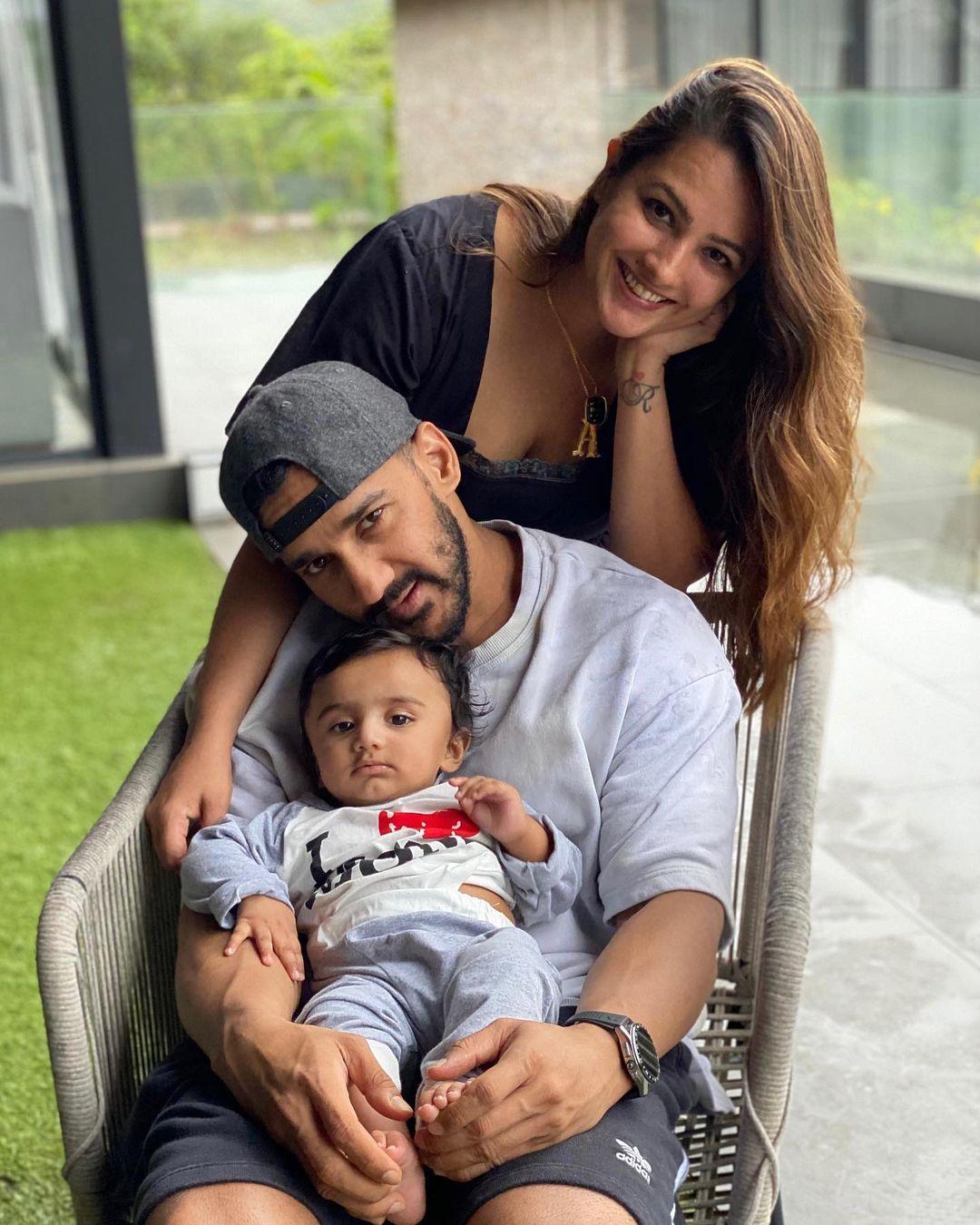 Anita Hassanandani With Baby And Husband