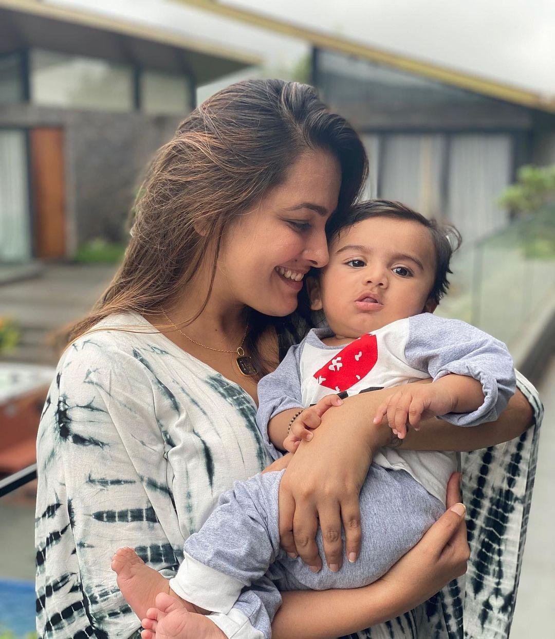 Anita Hassanandani With Baby