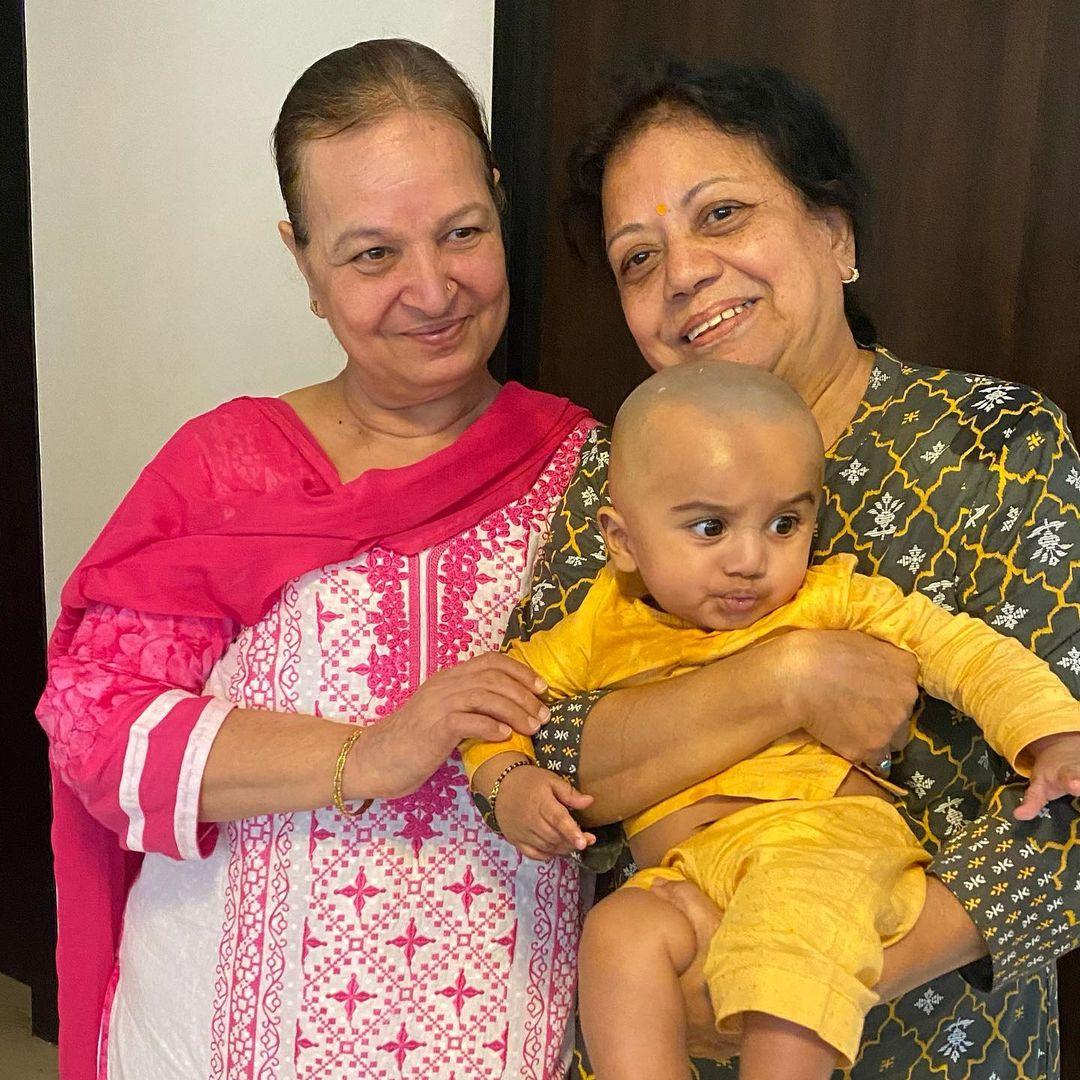Anita Hassanandani Baby Mundan Photo