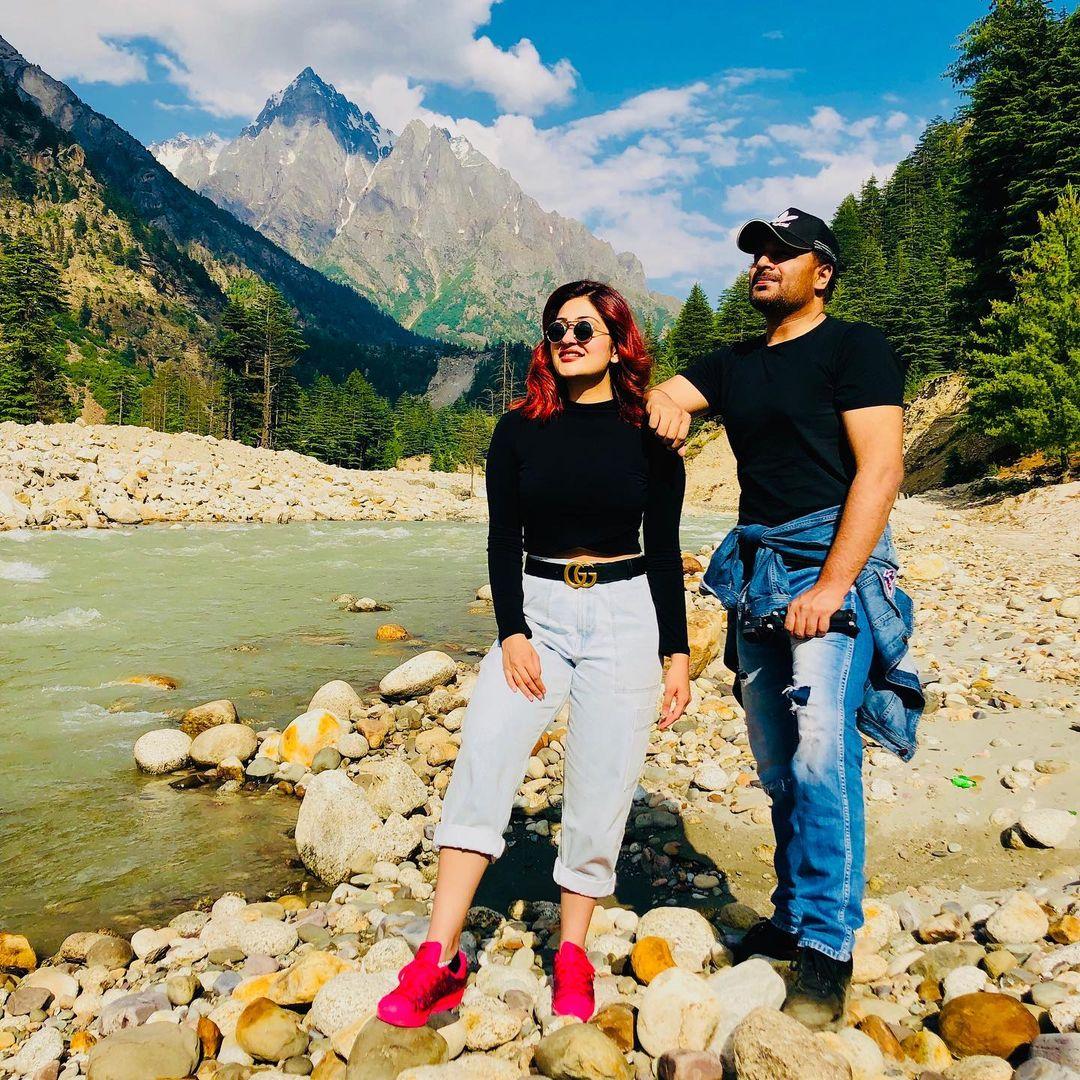 surilie gautam with husband
