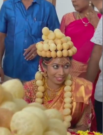 Bride Wore Golgappa Mala