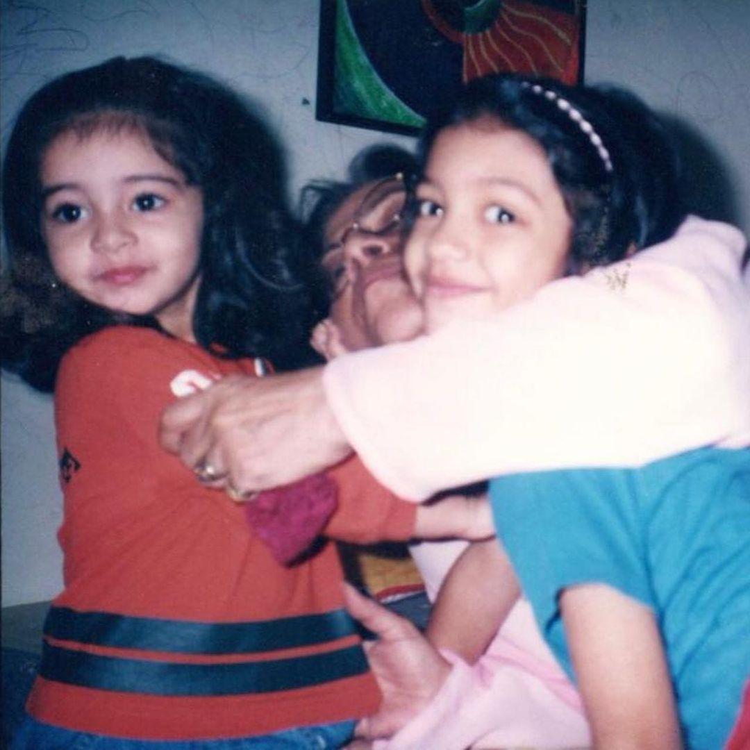 Ananya Pandey With Grandmother
