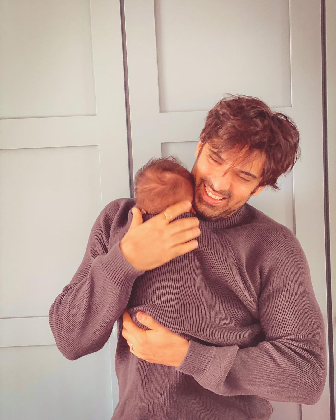 Mohit Malik With Son