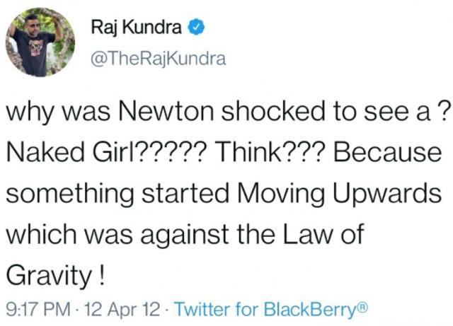Raj Kundra Tweet