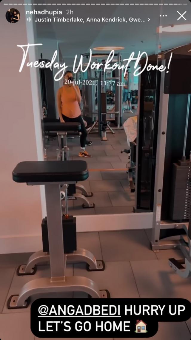 Neha Dhupia At Gym