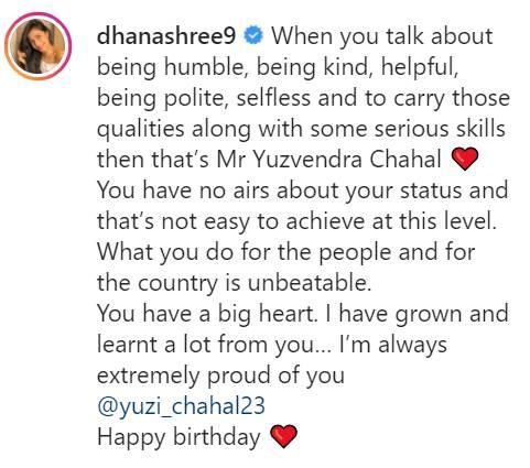 Yuzvendra Chahal Dhanashree Verma