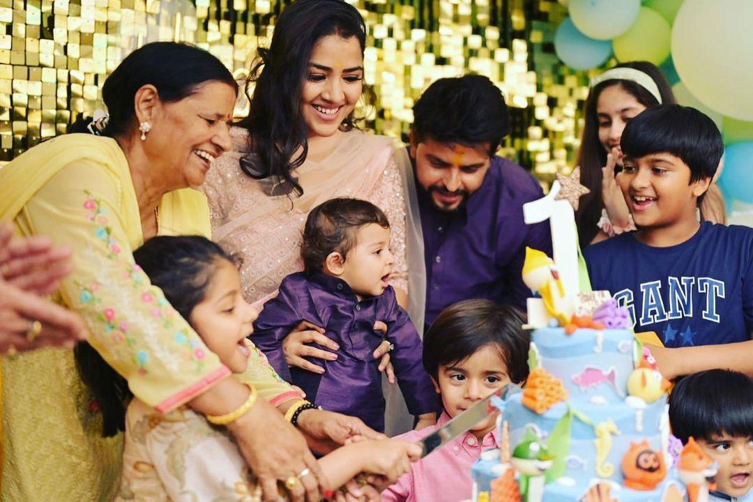 Suresh Raina Family
