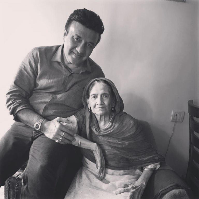 Anu Malik With His Mother
