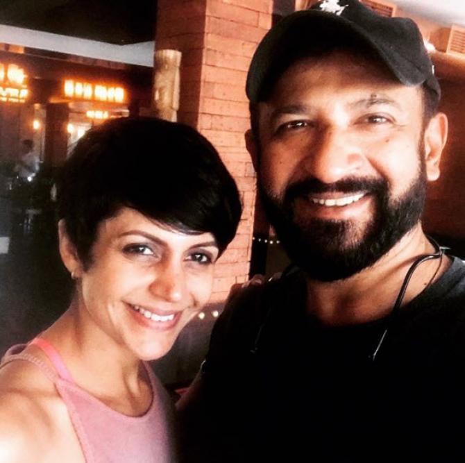 Mandira Bedi with husband Raj Kaushal