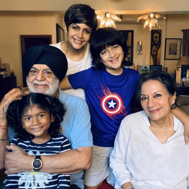 Mandira Bedi Family