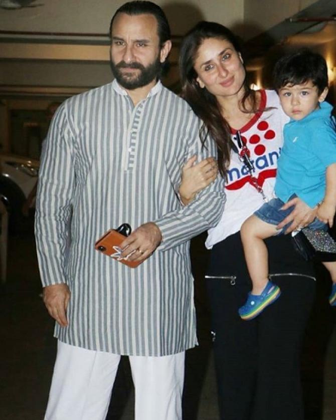 Saif Ali Khan With Kareena AndTaimur