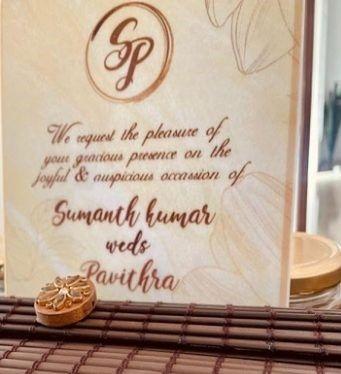 Sumanth Kumar Yarlagadda wedding card