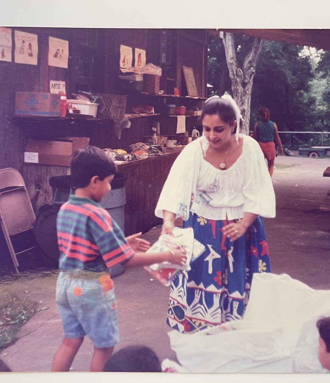 anand ahuja childhood photos