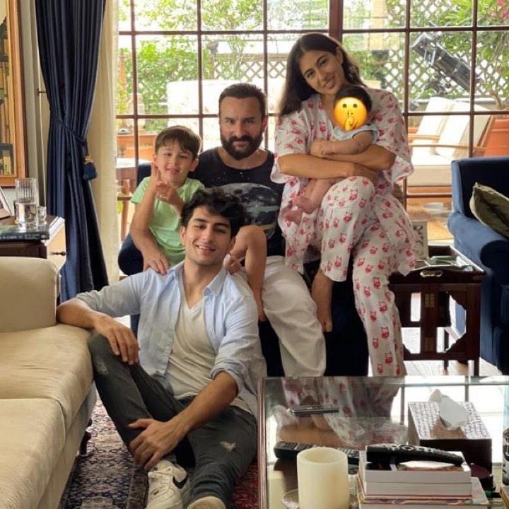 Saif Ali Khan With Kids