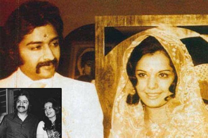 Mumtaz with Husband Mayur Madhwani